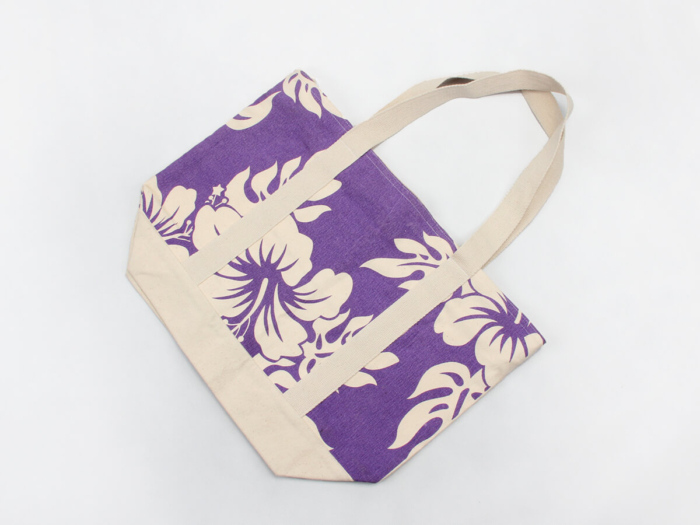 Violet ECO-Friendly Canvas Tote Bags Folding Display