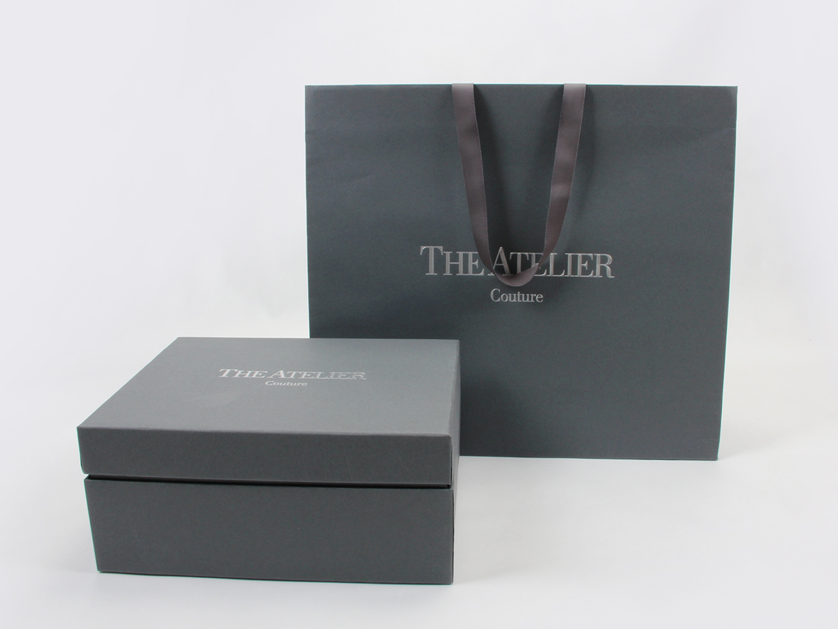 Wedding Dress Rigid Packaging Boxes and Bags Set Display