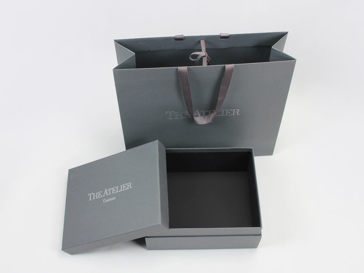 Wedding Dress Rigid Packaging Boxes and Bags Set