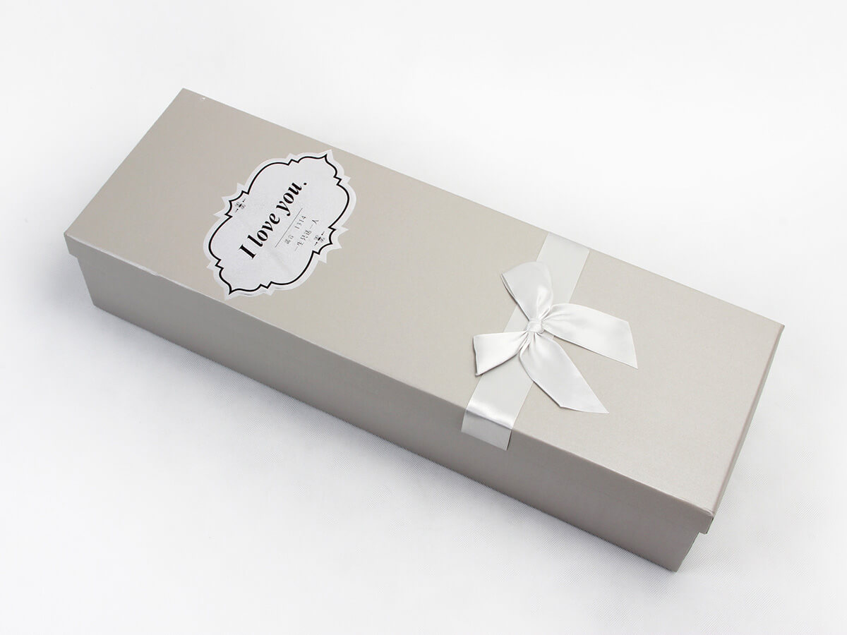 White Day Flower Packaging Boxes Ribbon Detail