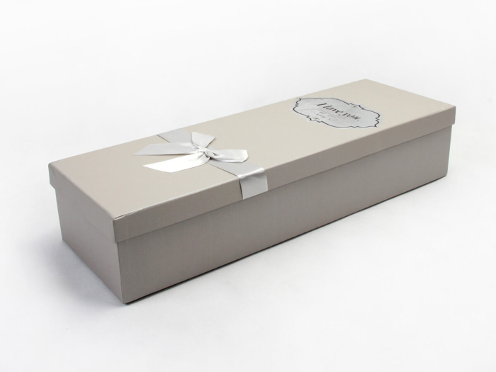 White Day Flower Packaging Boxes Side Detail