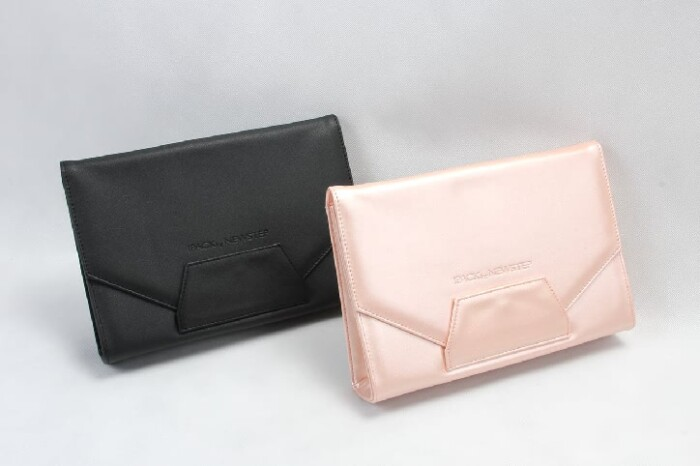 Women Classic Envelope Pu Leather Clutch Bags Cosmetic Bags Set