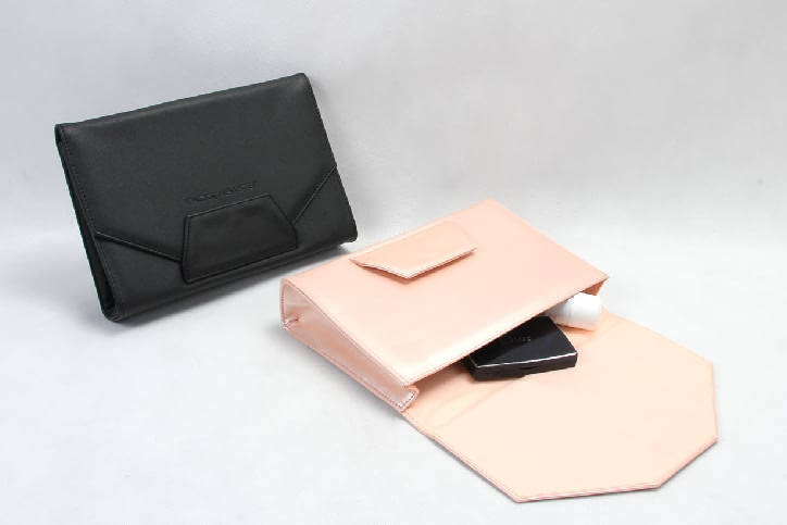 Women Classic Envelope Pu Leather Clutch Bags Cosmetic Bags Set Style