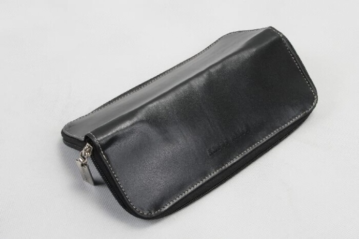 Women's Long Black Faux Leather Cosmetic Bags Material