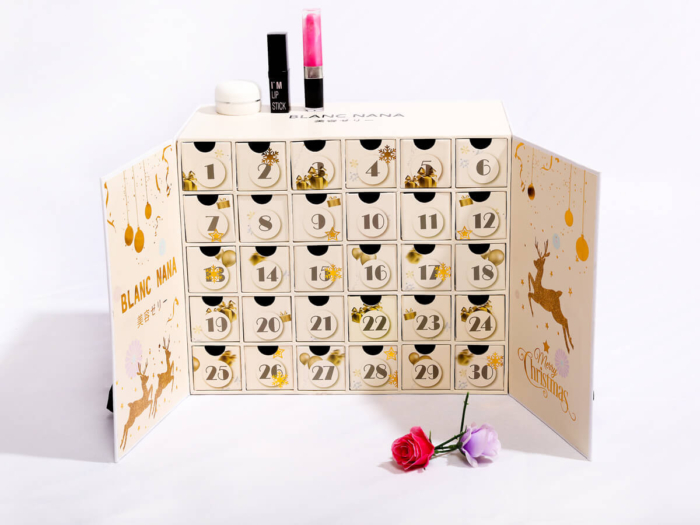 Beauty Christmas Calendar Packaging Boxes