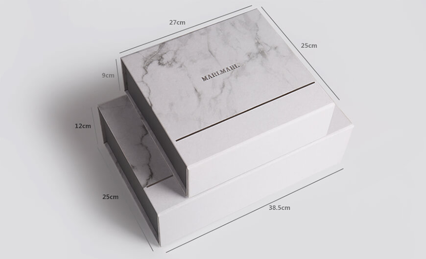 Marble Pattern Gift Packaging Folding Rigid Boxes Size