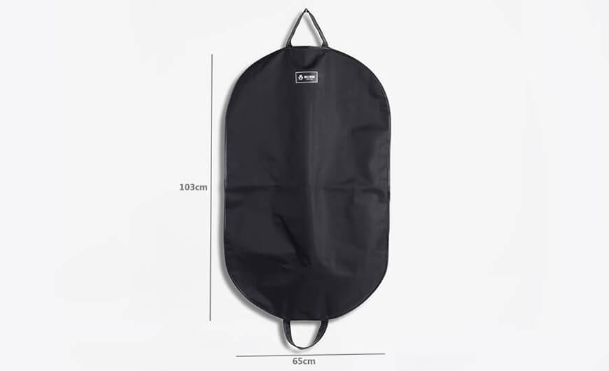 600D Nylon and Leather Hemming Garment Suit Carry On Bag Size
