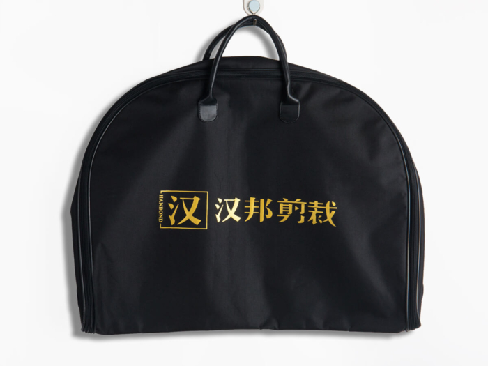 600D Polyester Garment Bag Fold Way