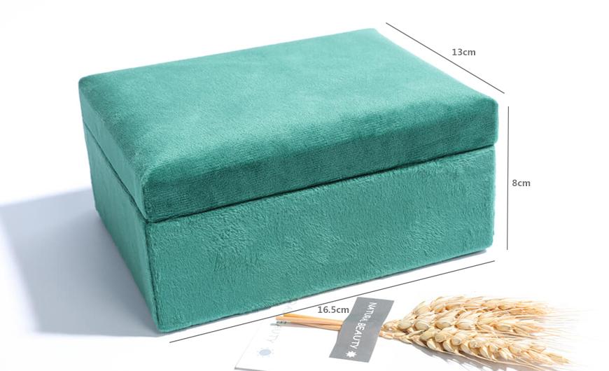Co-branded Mini Velvet Jewelry Boxes Size