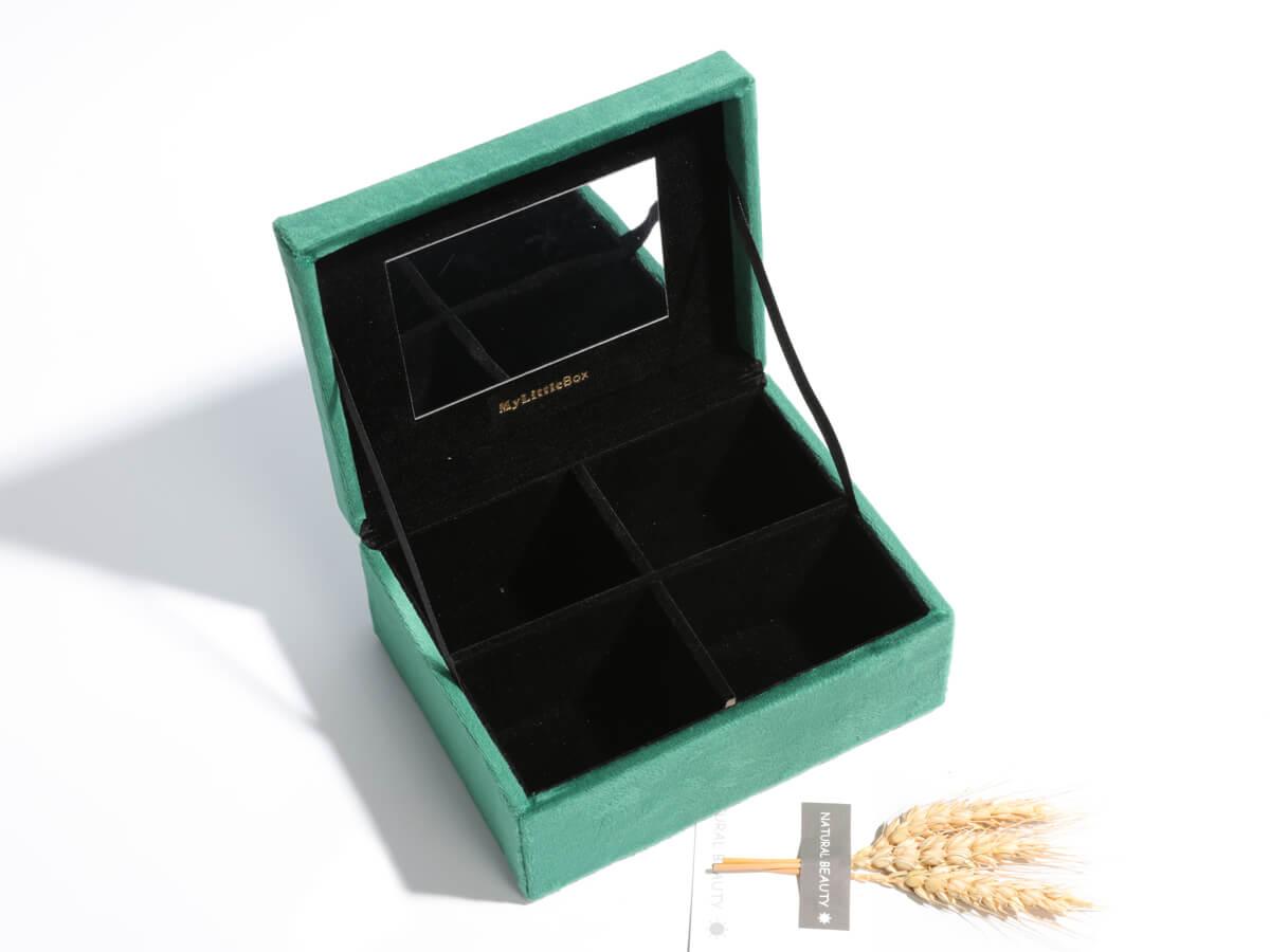 Co-branded Mini Velvet Jewelry Boxes Storage Case
