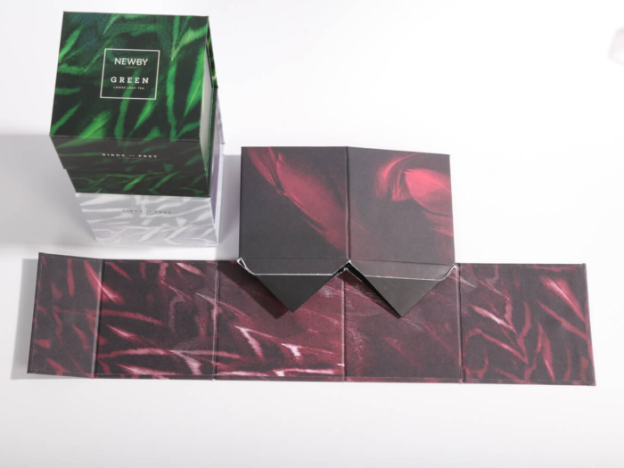 Creative Flavoured Black Tea Packaging Boxes Folding Way