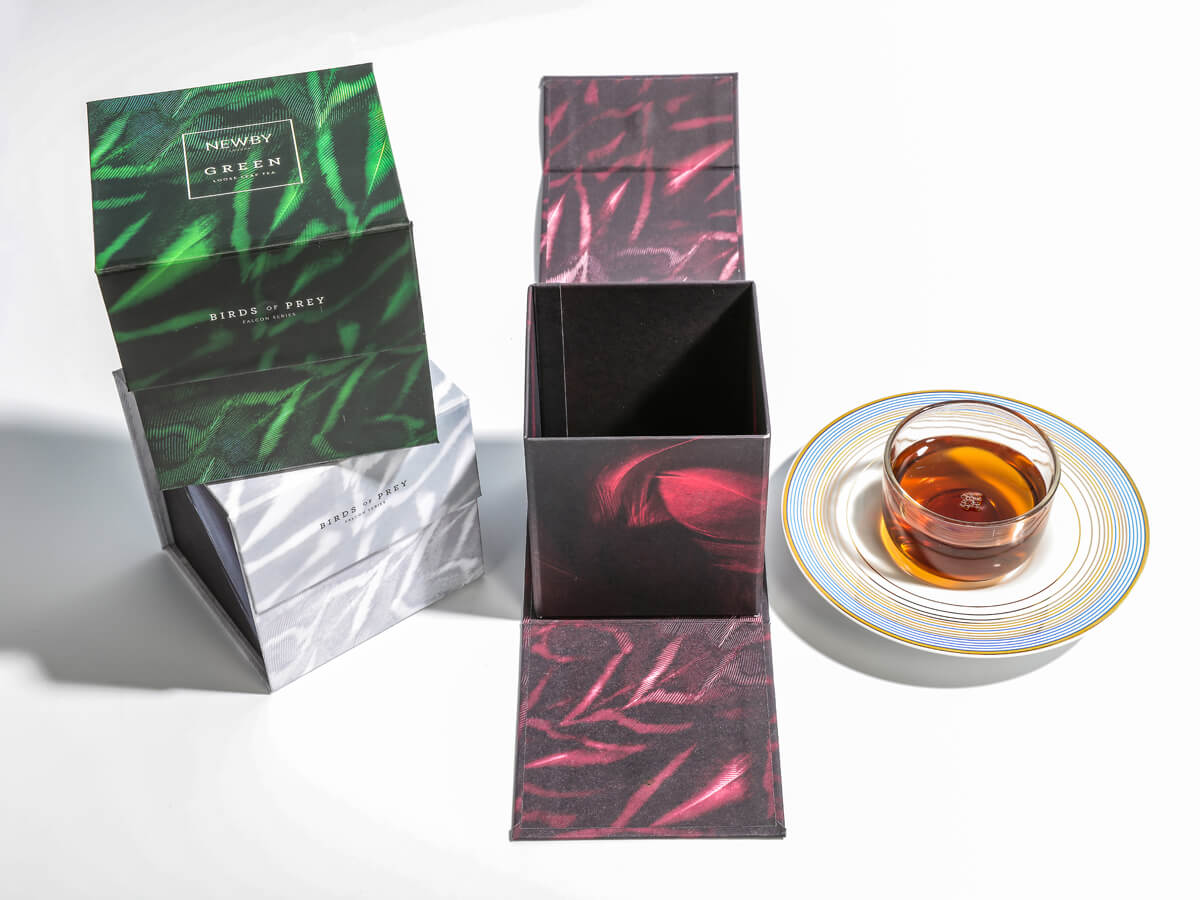 Creative Flavoured Black Tea Packaging Boxes Open Way