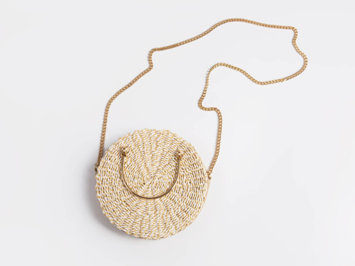 Crossbody Paper Straw Bag Material Detail