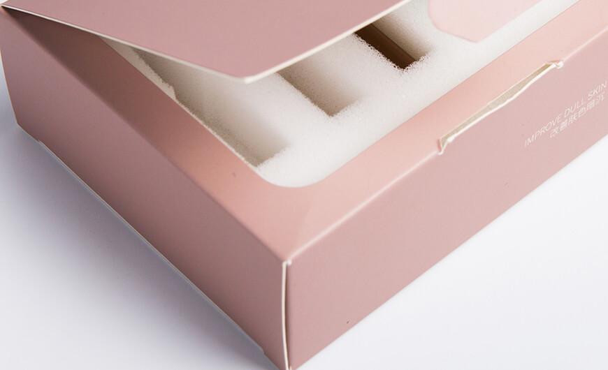 Essence Face Serum Packaging Boxes Corner Material Display