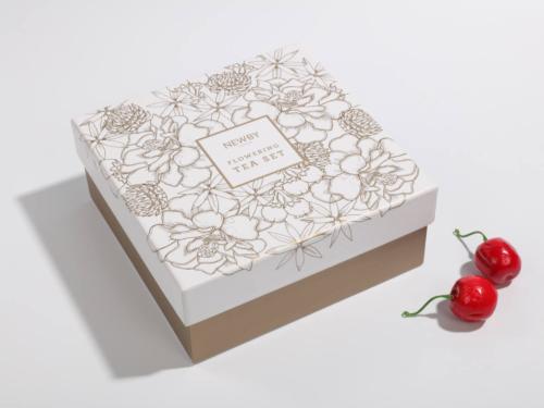 花茶とカップ包装リジッドボックスサイドディスプレイ
