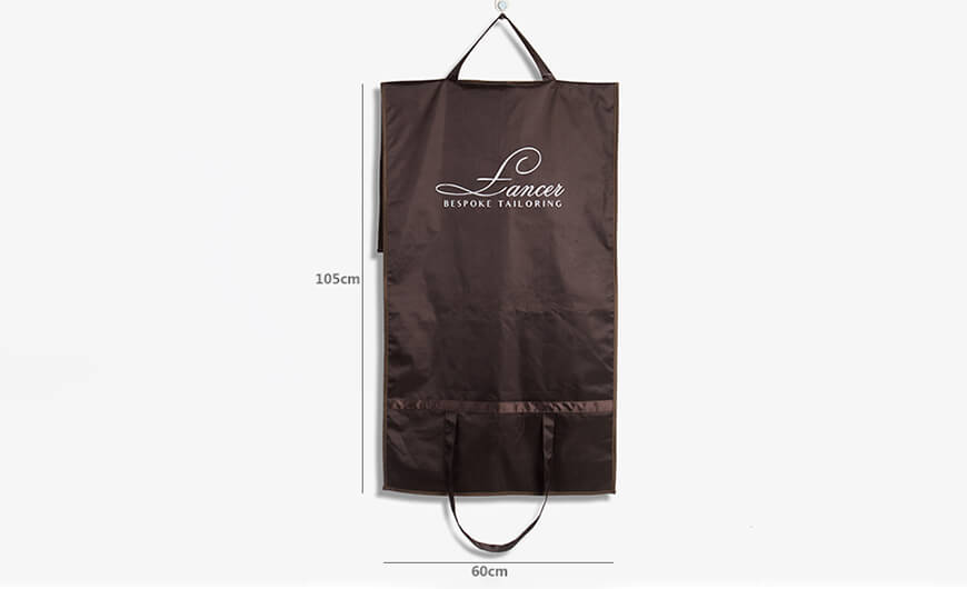 GUCHI 600D Nylon Three-Folding Hang Garment Coat Bag Size