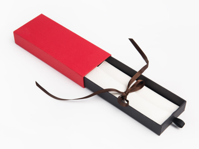 Glasses Packaging Box With Leather Packaging Bag