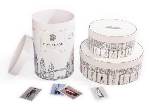 Large Wedding Dress Cylinder Packaging Rigid Boxes