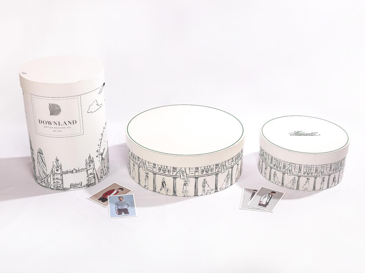Large Wedding Dress Cylinder Packaging Rigid Boxes Display