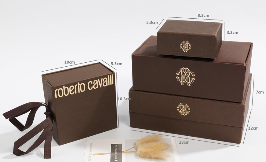Luxury Garment and Jewelry Packaging Rigid Boxes Size