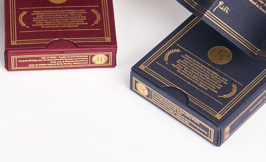 Luxury Poker Playing Cards Game Packaging Boxes Corner Detail