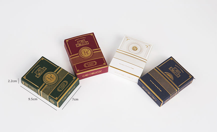Luxury Poker Playing Cards Game Packaging Boxes Size