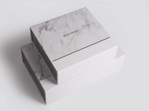 Marble Pattern Gift Packaging Folding Rigid Boxes