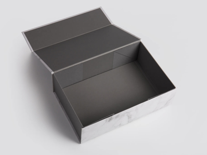 Marble Pattern Gift Packaging Folding Rigid Boxes Inside Material