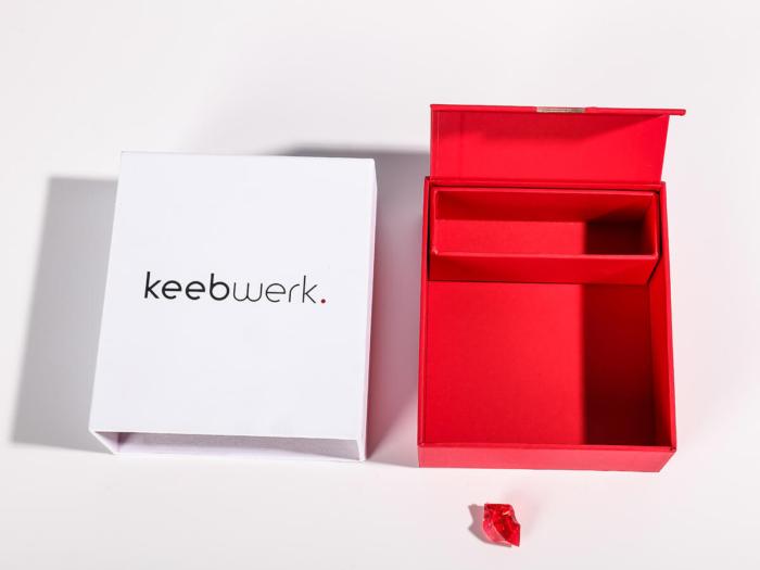 Mechanical Keyboard Keys Packaging Boxes Open Way