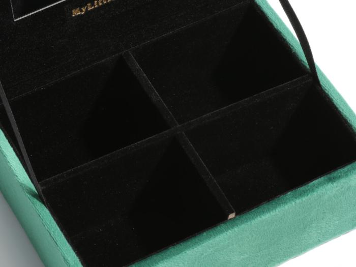 Mini Velvet Jewelry Boxes Storage Case Lining Display