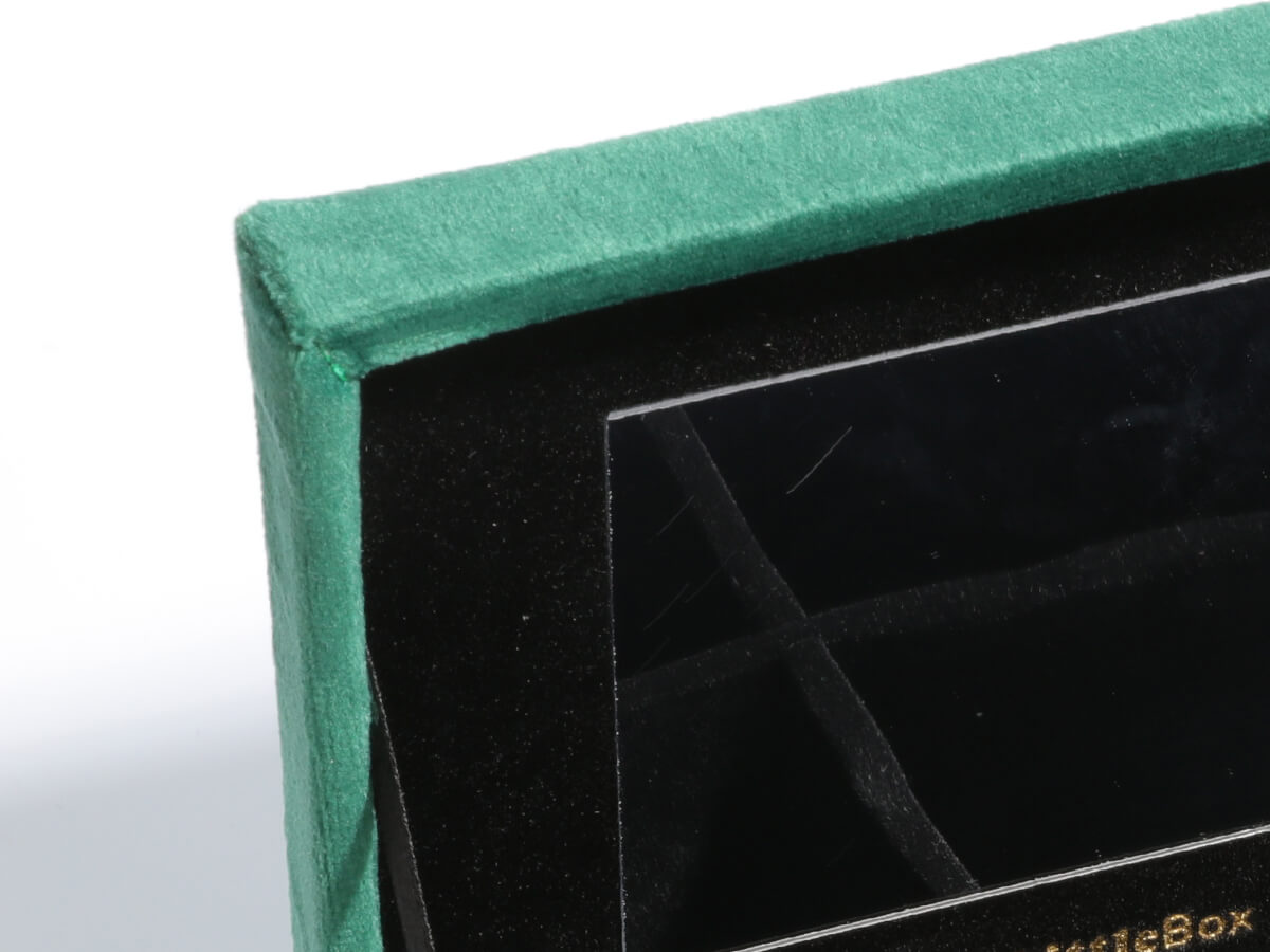 Mini Velvet Jewelry Boxes Storage Case Mirror Detail