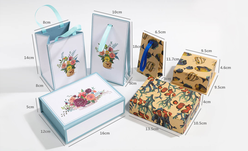 Natural Environment Packaging Boxes and Bags Size