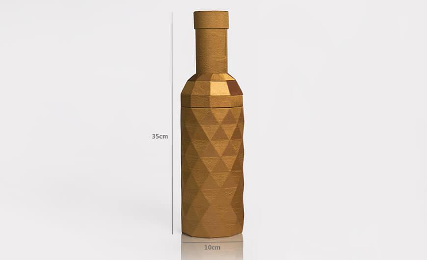 Original Desgine Wine Bottle Shaped Packaging Boxes Size