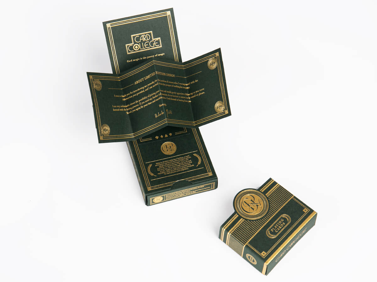 Poker Playing Cards Game Packaging Boxes Open Detail