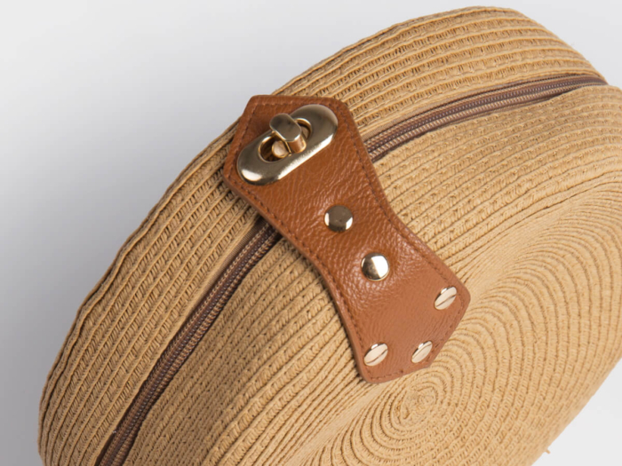 Round Lafite Straw Bag Accessories