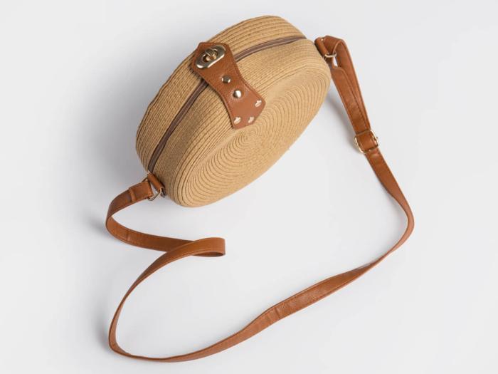 Round Lafite Straw Bag Handle Material