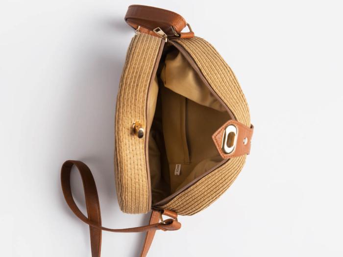 Round Lafite Straw Bag Inside Display