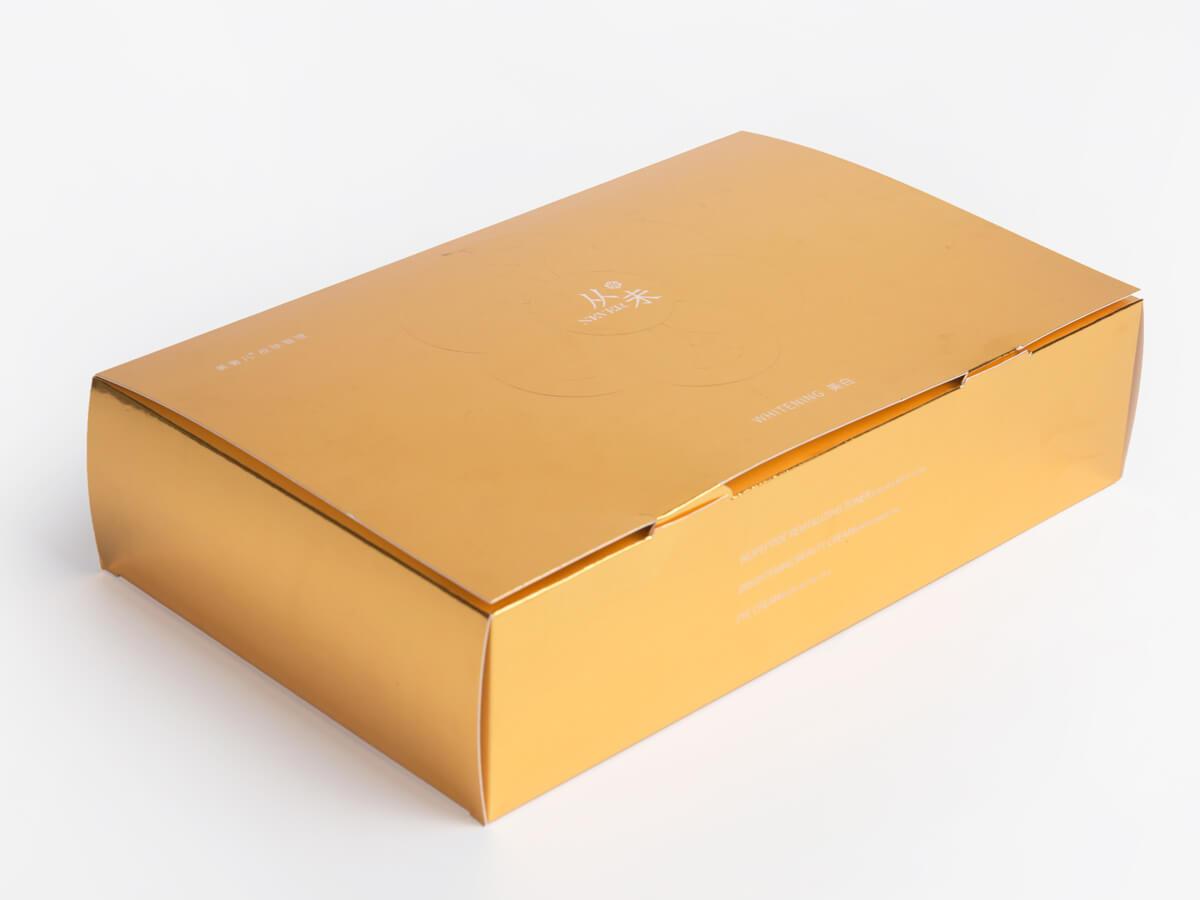 Skin Care Set Packaging Boxes Corner Detail