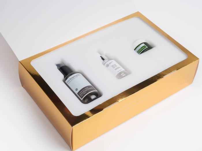Skin Care Set Packaging Boxes Lining Detail