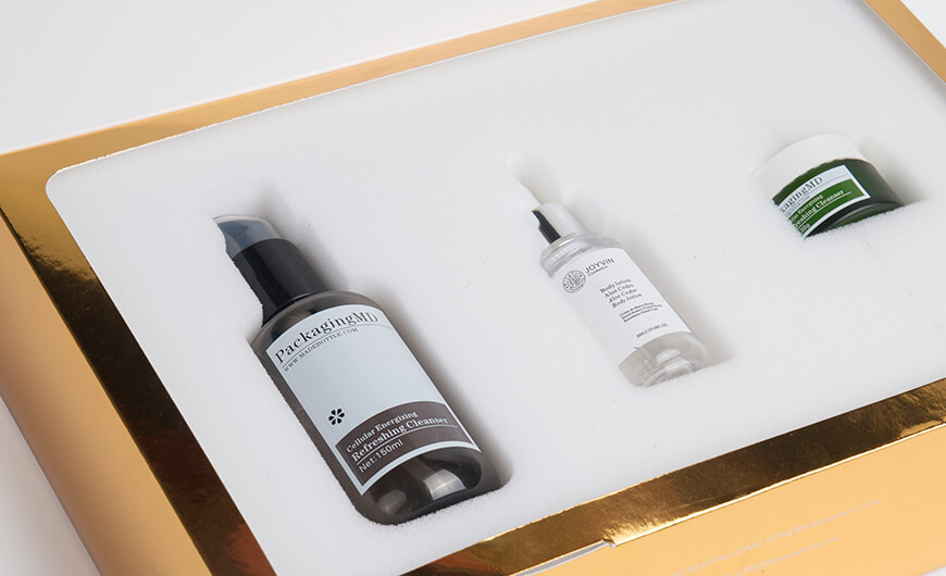 Skin Care Set Packaging Boxes Lining Material