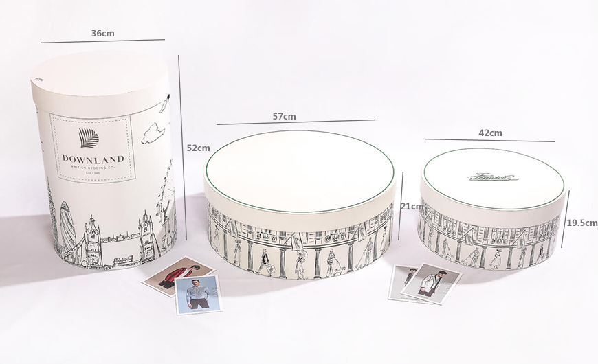 Wedding Dress Cylinder Packaging Rigid Boxes Size