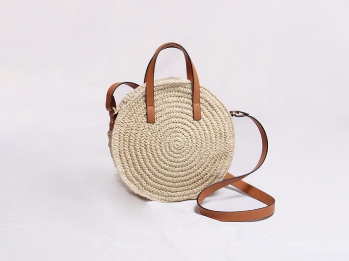 Woven Lafite Straw Handle Bag Material