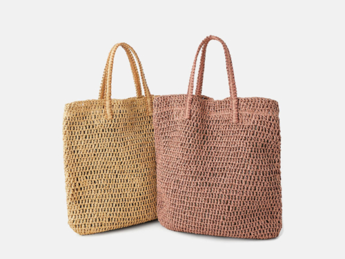 Woven Paper Straw Beach Handle Bag