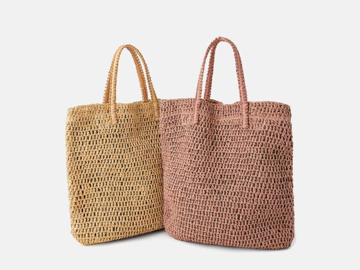 Woven Paper Straw Beach Handle Bag