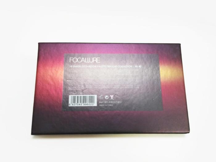 Eyeshadow Paper Palette Packaging Boxes Back Printed