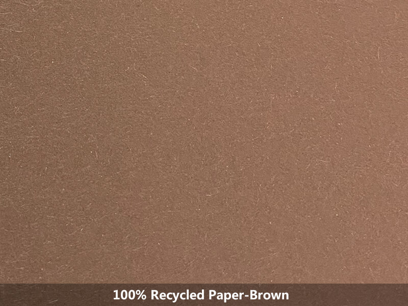 100% recycled paper-brown
