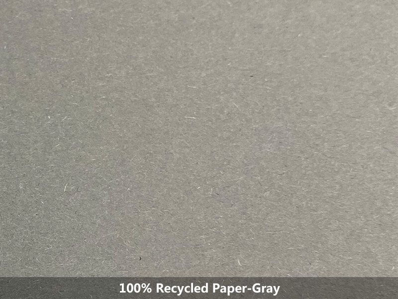 100% recycled paper-gray