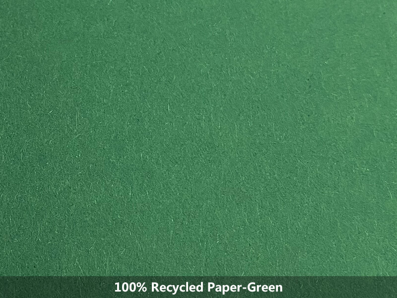 100% recycled paper-green
