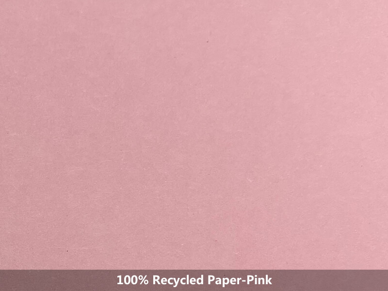 100% recycled paper-pink