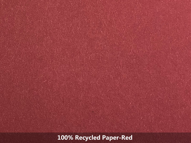 red100% recycled paper-